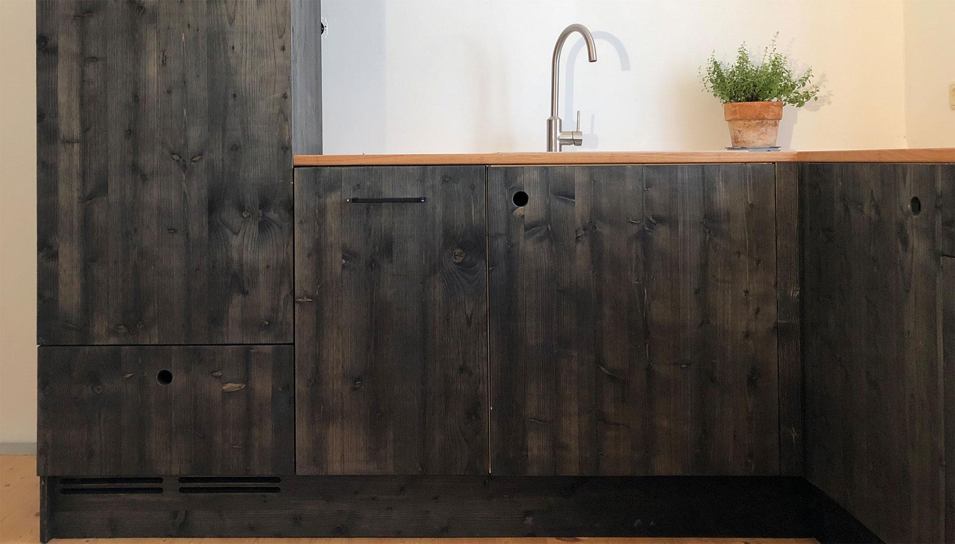 Küche Fichte/Eiche massiv